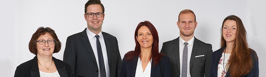 Die Mitarbeiter der VR Immobilien GmbH Oberbayern Südost